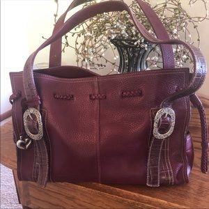 Brighton Large Cranberry Leather Purse